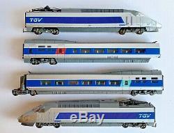 Lima Ho Gauge L149714 4 Car Tgv High Speed Sncf Emu Train Pack Boxed