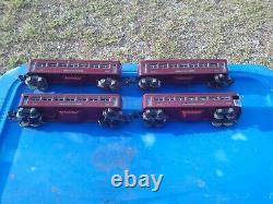 Lionel 224 O O27 Gauge Steam Locomotive Passenger Car 2642 2643 Train Set