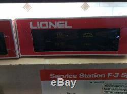 Lionel 6-1450 Rio Grande F3 Aba Engine O Gauge Train 6-cars Service Station Set