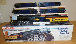 Lionel 6-8003 Chessie Steam Engine Locomotive 5 Car Passenger O Gauge Train Set