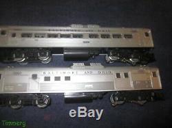 Lionel 6-8764 8765 8 B&O RDC Budd Cars Commuter Train 2 Car Set Power & Dummy