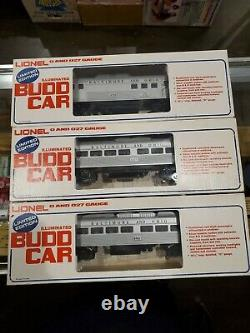 Lionel 6-8766 8767 8768 B&O Illuminated RDC Budd Cars Commuter Train 3 Car Set