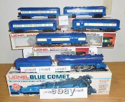 Lionel 6-8801 Blue Comet Cnj Steam Locomotive 5 Car Passenger O Gauge Train Set