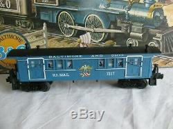 Lionel Baltimore & Ohio Train Set with General 4-4-0 & Passenger Cars #6-1351 NOS