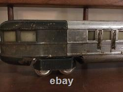 Lionel Flying Yankee Prewar Train Locomotive Passenger Cars 616 617 618 Art Deco
