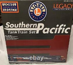 Lionel Legacy Southern Pacific Tank Train Car Set 6-29366 Sd40t-2 Diesel Engine