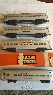 Lionel O Gauge Passenger Train Car Set Santa Fe Engine With 8 Cars See Desc