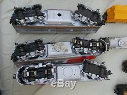 Lionel O Gauge Train Set Santa Fe 2343 Aba Units With Set Box 2191w & Cars