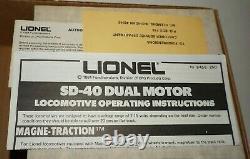 Lionel O-gauge 6-1451 Sd 40 Locomotive Erie Lackawanna Limited Train Set 6 Cars