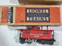 Lionel Train Set 224 Locomotive 2466W 3454 2555 2452 2457 3472 110 Watt 7 Cars