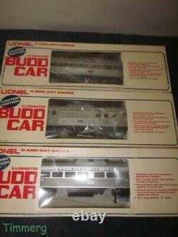 Lionel Trains 6-8764 8765 8767 B&O RDC Budd Cars Commuter Train 3 Car Set