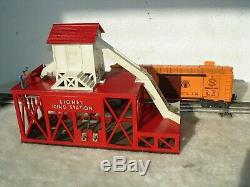 Lionel Trains Postwar Operating #352 Ice Depot Icing Station & Ice Car #6352 Vg