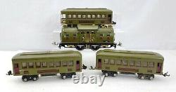 Lionel Trains Prewar 254 Electric Locomotive Engine 3 Passenger Cars 2 610 & 612