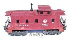 Lot 6 Lionel Train Set 675 Loco w Baldwin Discs 6466WX 6357 6462 6465 6656 Cars