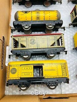 MARX Pre-War Train Set COMMODORE VANDERBILT Locomotive Freight Cars NICE