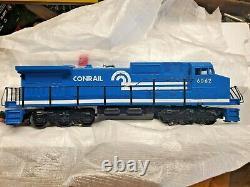 MTH O Gauge RailKing Diesel Conrail Work Train Set withHorn 8 Cars, 26 track piece