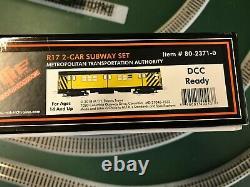 MTH R-17 2 Car DCC Ready MOW HO Powered Subway Work Train Set #80-2371-0