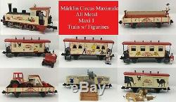 Märklin Circus Maximale All Metal Maxi 1 Locomotive & 7 Cars Train with Figurines