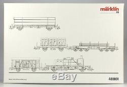 Märklin HO 48801 DB Heavy Freight Train 5 Car Set LN/BX, 2002 only