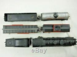 Marx 3/16 Scale O Gauge Freight Train Set 333 Diecast Loco & 4 Freight Cars NICE