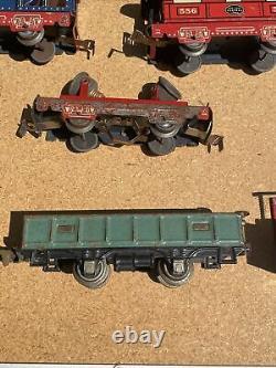 Marx Commodore Vanderbilt Prewar Steam Locomotive Freight Car Train Set 555 553