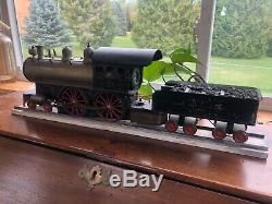 McNair Train 1910 Circa. 4-4-0 Live Steam Locomotive 2 Gauge. With coal car
