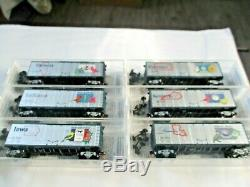 Micro-Trains 50 Car State Series Set with FT A & B Locomotives & Caboose N-Scale