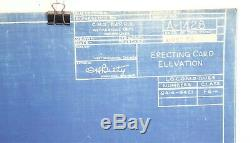 Milwaukee CMSTP&PRR Erecting Car A-1428 4-27-1934 95 Locomotive Train Blueprint