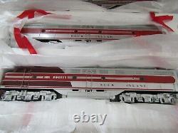 Mth O Scale Gauge Train Engine Locomotive Emd E-8 Aba Diesel Set Car Rock Island