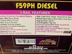 Mth Premier Amtrak Surfliner F59ph Diesel Engine! Passenger Car Train O Gauge