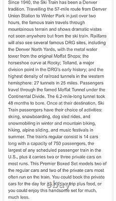 Mth Premier Denver Rio Grande Ski Train F40ph Diesel Engine Passenger Car Set