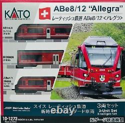 N Scale Kato 10-1273 Rhaetian Railway RhB ABe8/12 Allegra 3-Car Set Model Train