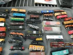 N Scale Train Locomotives, Tankers, Cars Lot of 159 Estate Find Parts