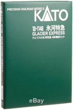 NEW KATO N gauge Glacier Express hematopoiesis 4-Car Set 10-1146 Model Train