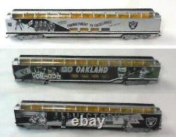 Oakland Raiders Hawthorne Village Train Set Diesel Locomotive + 13 Cars