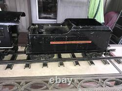 Original Buddy L outdoor railroad 963 train engine with coal car and Track