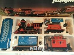 Playmobil Western Train Set 4034 & Additional Western Rail Cars 4120, 4121, 4122