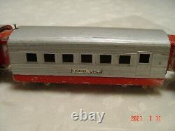 Pre-War Lionel Streamliner 1700E Red & Silver Locomotive Train Engine Cars 027
