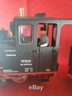 TRAIN LBG 2015D Steam Engine With Conductor Plus One Car G Scale