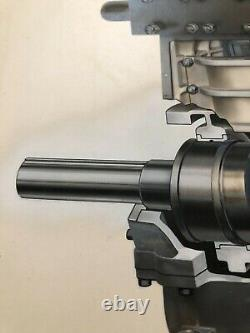 Technical Pen Ink Paint Drawing Steam Engine Locomotive Train Car Cutaway