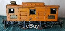 The Ives Railway Lines Train Engine Locomotive #3235 Freight Cars Orange