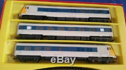 Triang Hornby Rs652 Blue Pullman Car Set Boxed Vintage Tri-ang Train Set