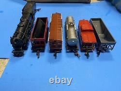 Vintage American Flyer Train Set 4607A Pennsylvania 312 Steam 5 Car Freight Set