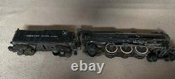 Vintage American Flyer Train with coal tender and passenger cars. Locomotive #316