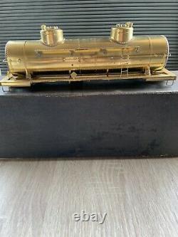 Vintage Brass Train Tank Car U. S. Hobbies 8000 GAL DOUBLE DOME. (NO. 302)