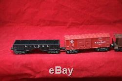 Vintage Lionel 2037 Train Set. Working Locomotive, Tender, Caboose & 3 Cars I3