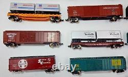 Vintage Lot Of 23 N-scale Train Cars Includes 1 Engine Bachman Atlas Trix Etc