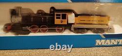 Vintage Mantua Ho scale Denver & Rio Grande Western locomotive & 5 car train