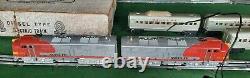 Vintage Marx 44544 Santa Fe Train Set Locomotive 1095 Passenger Cars 3197 3152