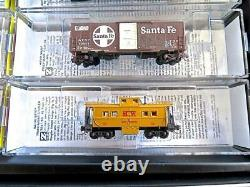 Z MicroTrains AT&SF Train Set With Blue Bonnet F7 Diesel & 5 Weathered Cars NEW